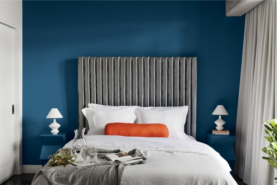 2020 ppg coty blue bedroom